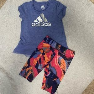 Little girls Adidas outfit